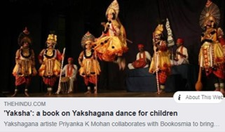 The Hindu on Yaksha , India's first ever children's book on Yakshagana by Bookosmia