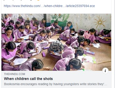 The Hindu talks about the revolution Bookosmia wants to bring about in children's stories in India
