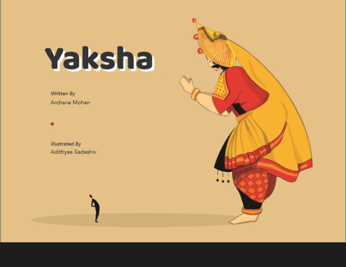 Yaksha (in English) Children's Book+ Yaksha Mask