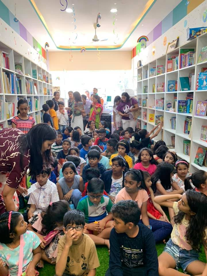 Bookosmia's Yaksha is the highlight at the launch of fabulous Kahaani Box Library's new premises!