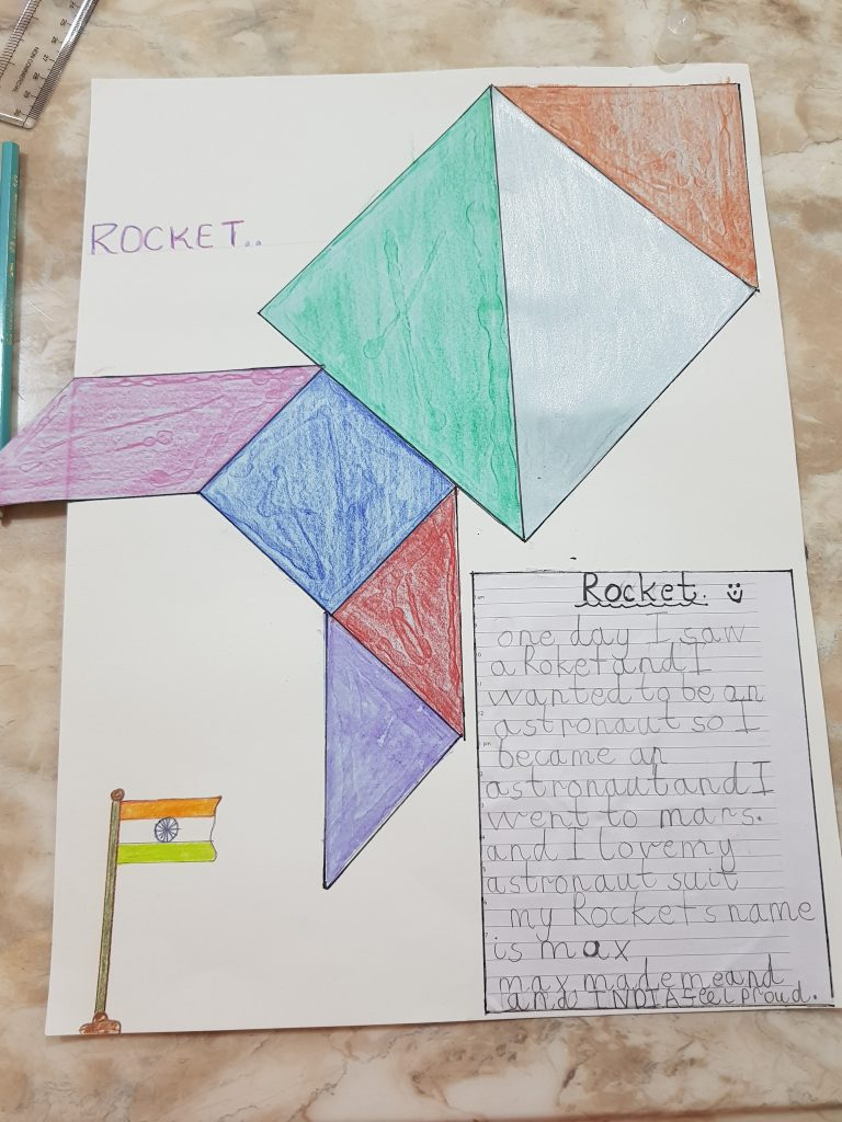 Tangram activities for kids with Sara by Bookosmia