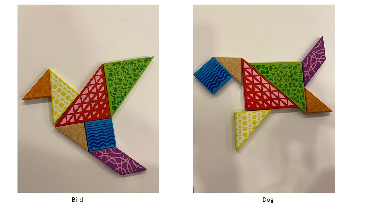 #Sara's Activities: Tangram #12- Bird, Dog and a lesson in building trust