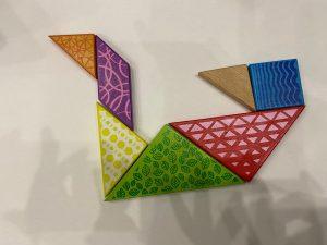 Swan Tangram with Sara activities for kids Bookosmia