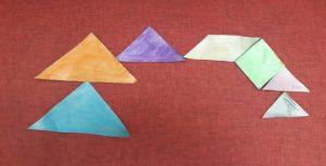 The Happy Pyramid family tangram STEM Sara's activities for kids Bookosmia