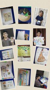 Sara's Art activities with young artist Atharv Nagpur Bookosmia