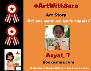 Art with Sara young artist Aayat London Bookosmia
