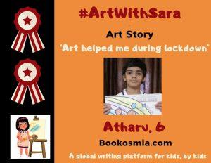 Art with Sara young artist Atharv Nagpur Bookosmia