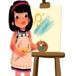 Art by kids with Sara icon Bookosmia