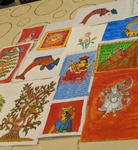 Art with Sara young artist Aashesha Bookosmia