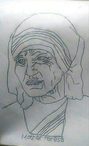 Mother Teresa Art with Sara Bookosmia