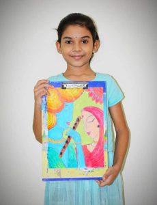 Art with Sara young artist Ishita Bookosmia