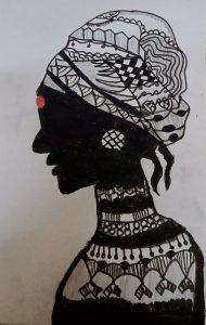 Art with Sara Bride or woman Samaira Bookosmia