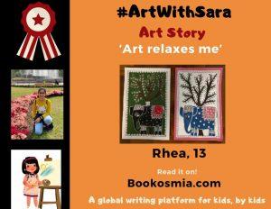 Art with Sara young artist Rhea Hong Kong Bookosmia