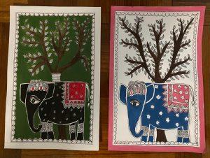 Art with Sara Madhubani folkart Bookosmia