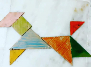 Dog Tangram activities for kids with Sara Bookosmia