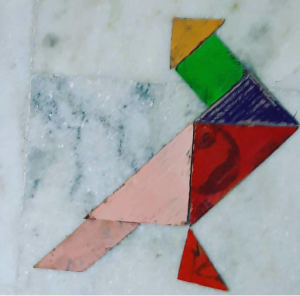 Pigeon Tangram activities with Sara Bookosmia
