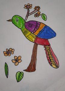 Art with Sara bird Bookosmia