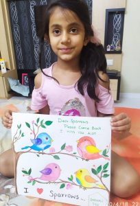 Nature with Sara sparrow stories for kids by kids Darshali Bhilwara