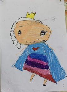 Elsa Frozen Art with Sara Bookosmia