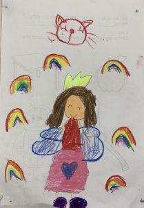 Art with Sara I love rainbows Bookosmia