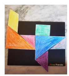Four Tangram for kids with Sara Bookosmia