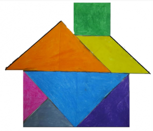 House Tangram with Sara stories for kids, by kids Bookosmia