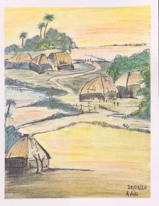 A Village in Bengal Art with Sara by Aditi from UK Bookosmia