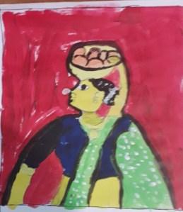 Cheriyal Art by kids with Sara Bookosmia