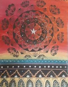 Mandala Art for kids by kids with Sara Bookosmia
