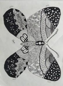 Butterfly Mandala Art by kids with Sara Bookosmia