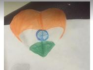 Art with Sara Indian flag 3d art by kids Bookosmia