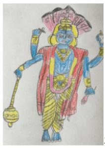 Art with Sara vishnu by kids Bookosmia