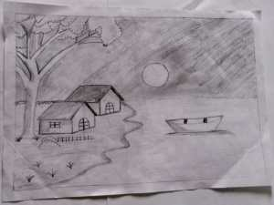 Pencil Art by kids with Sara Bookosmia