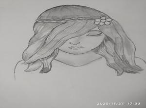 Art stories with Sara girl sketch Bookosmia