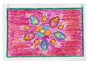 Festival with Sara Diwali rangoli Bookosmia