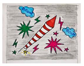 Festivals with Sara Rocket Fireworks Bookosmia