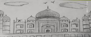 Art by kids Taj Mahal with Sara Bookosmia