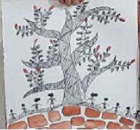 Art with Sara warli by kids Bookosmia