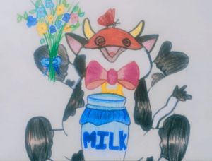 Art with Sara Happy Cow by kids Bookosmia