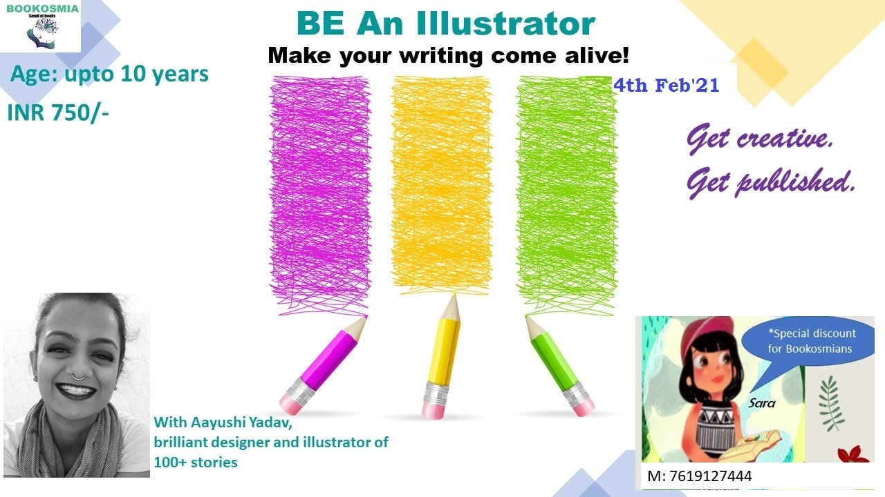 'Be an Illustrator' Juniors Workshop (Upto 10 years)