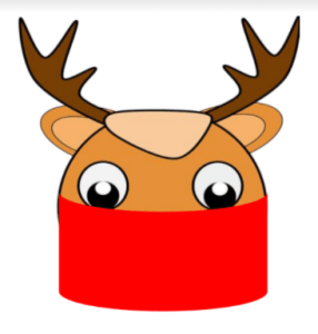 rudolph the red masked reindeer Bookosmia