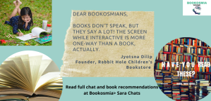 Dear Bookosmians message from Jyotsna Dilip Rabbit Hole Children Sara Chats