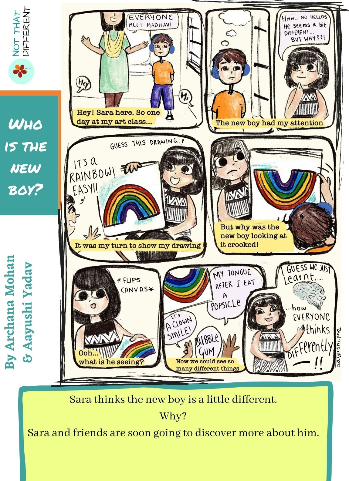 Who is the new boy? | Comic Strip on Autism