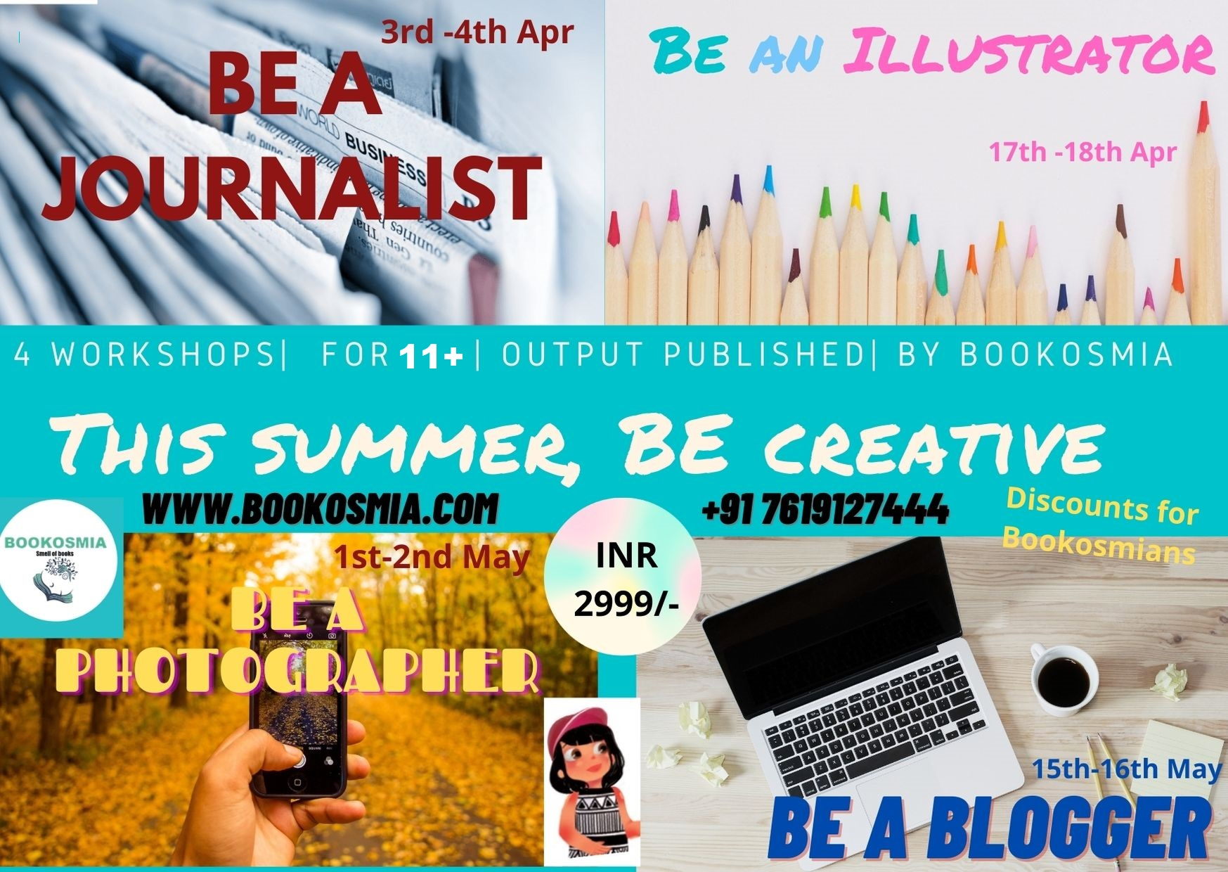 'Be Creative' Summer Package For Teens