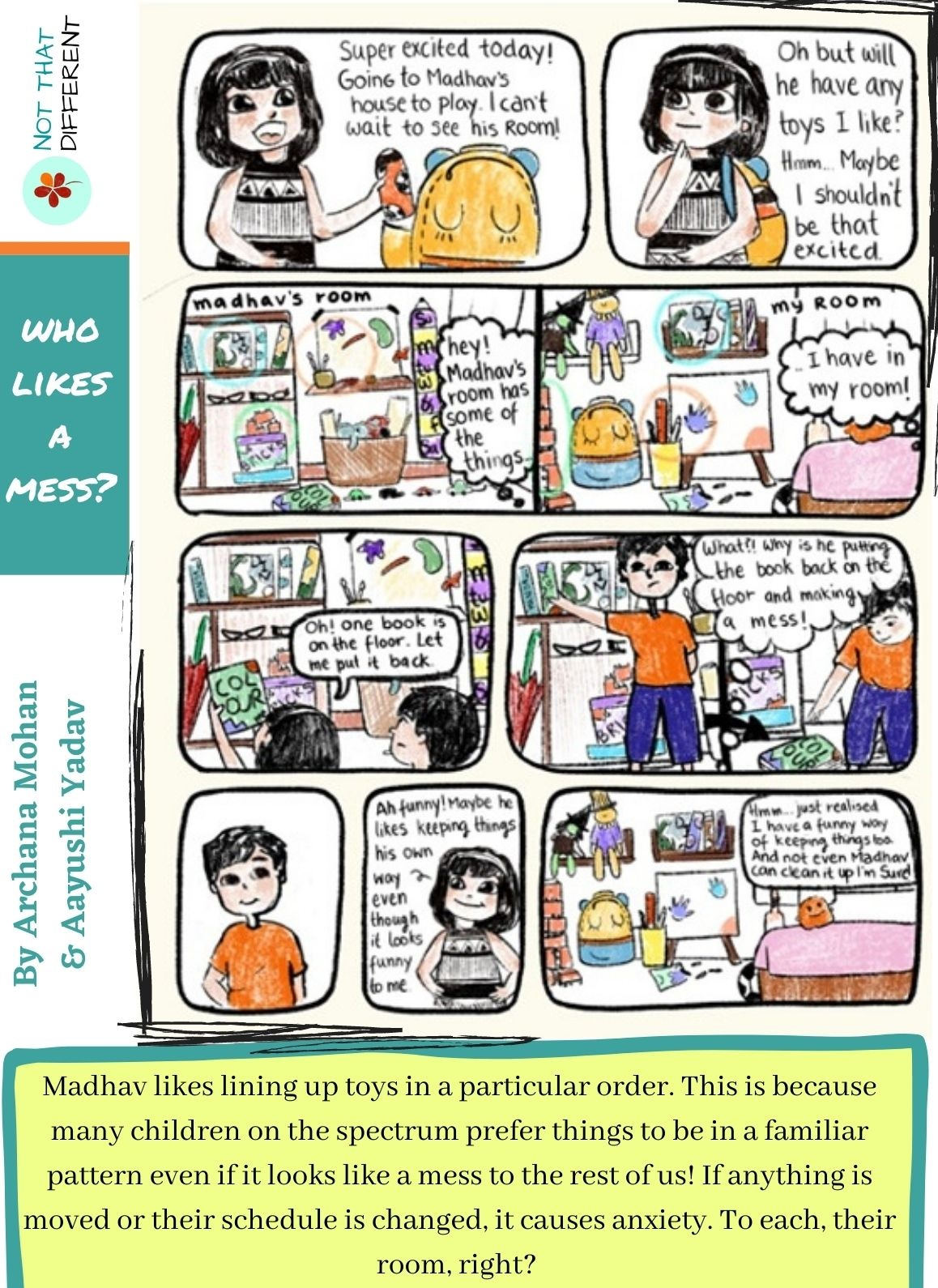 Who likes a mess? | Comic Strip on Autism