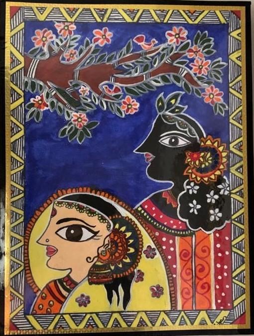 I love making Madhubani paintings