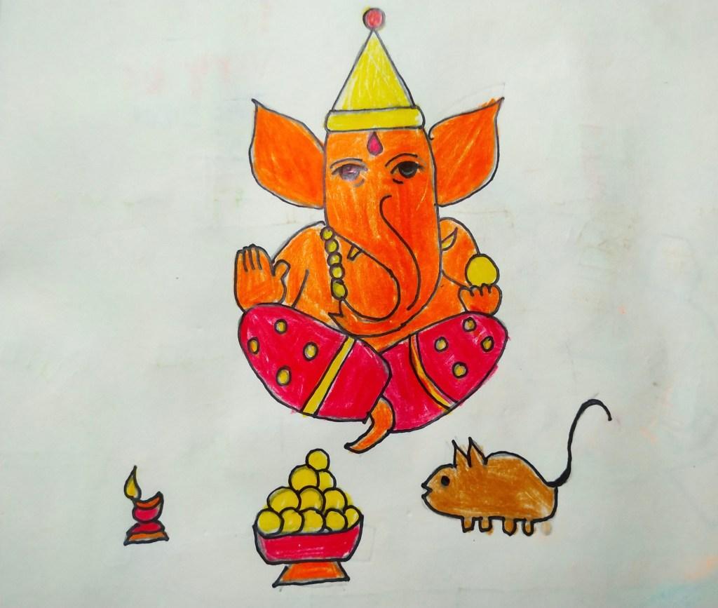 Jagannath, Saraswati, Ganesh…from my imagination