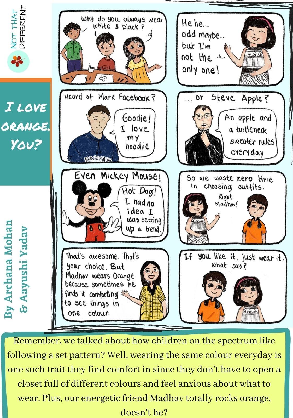 I love orange. You? | Comic Strip on Autism