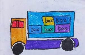 Toy truck - Easy drawing for kids
