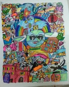 Art-Doodle art - Colourful collage
